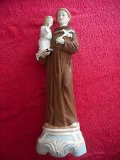ANCIENNE STATUE RELIGIEUSE/St ANTOINE ENFANT JESUS/BISCUIT GERMANY/XIXè/H.45,5cm
