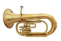 Bb FLAT 3 VALVE EUPHONIUM MARVELOUS OSWAL SALE!!!!NEW BRASS FINISH FREE CASE+M/P