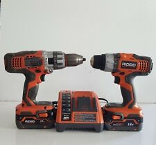 Ridgid R86007 18V Compact Lithium Ion Drill and R861150 Hammer Drill