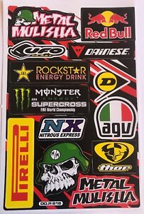 13 Rockstar Energy Racing Stickers Dirt Pit Bike MTB Motocross Helmet BMX Quad