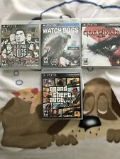 PS3 Games Lot Watch Dogs,Sleeping Dogs,GTA5, God Of War 3 Good Condition