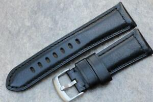 Handmade Watch Strap Genuine Smooth Calf Leather Padded Durable Stitch 26mm