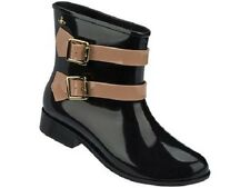 New Melissa  Vivienne Westwood Anglomania Women's Ankle Boots Black/Brown sz 10