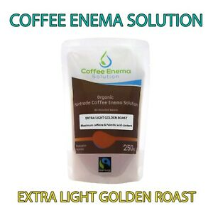 COFFEE ENEMA SOLUTION EXTRA LIGHT GOLD AIR ROASTED - 50 POUCHES - GERSON ORGANIC