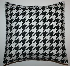 Throw Pillow Sham/Cover for 18x18 Insert Large Black/White Houndstooth ALABAMA
