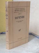 ALEXIS DE TOCQUEVILLE - SOUVENIRS  - DIPLOMATIE