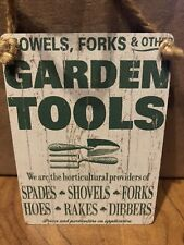 Garden Tools Other Colourful Metal Dangler Mini Hanging Sign,