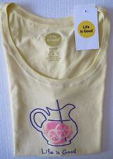"NWT Life is Good.®_Women's Classic Fit ""Lemonade""  Crew-Neck Tank Tee (M)"
