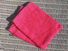 Articles et textiles gants de toilette rose coton pour la salle de bain
