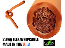 15' #2 HIGHLY FLEXIBLE WELDING WHIP CABLE ORANGE 600V USA MADE EPDM COPPER AWG