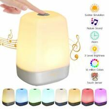 Wake Up Night Light Touch Control Alarm Clock with RGB Colord Sunrise Simulation