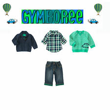 "Gymboree Baby Boys ""We Have Arrived""Cardigan/Top/Shirt/Jeans 4 Piece Set 12-18m"
