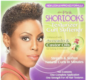Luster's Pink Shortlooks Texturizer Curl Softener Avocado & Castor Oil No-lye