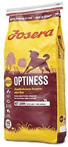 JOSERA Optiness (1 x 15 kg) Hundefutter mit eiweißreduzierter Rezeptur ohne Mais