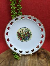 Westminster Australia Vtg Reticulated Plate WA Wildflowers Porcelain Australiana