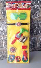 PRB Set di Accessori in Plastica Made in Italy anni '70