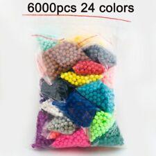 6000pcs 24color Beads Puzzle Crystal Color Aqua DIY Beads Water Spray Set Ball