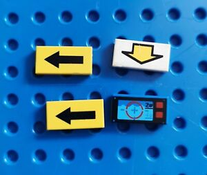 LEGO 3 x Stein Pfeil unten blau Blue Brick 1x2 with Down Arrow Pattern 3004p20