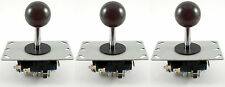 3 x Sanwa Style Ball Top Arcade Joysticks, 8 Way (Black) - MAME, JAMMA