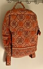 "Retired Vera Bradley Beautiful Paprika Medium School Backpack Okay 15"" X 12"""