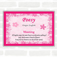 Poesy Name Meaning Jumbo Fridge Magnet Pink