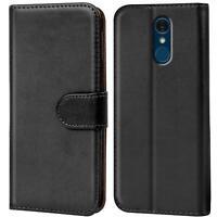 Book Case für LG Q7 + Plus Hülle Flip Cover Handy Tasche Schutz Hülle Schale
