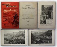Tarnuzzer illustriertes Bündner Oberland 1903 Landeskunde Ortskunde Geografie xy