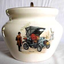 "Vintage ""Sandland"" Hanley Staffordshire Lid Jar Pot Locking Brass Lid England"