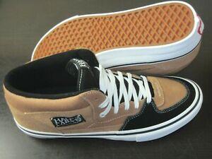 Vans Mens Half Cab Pro Skate shoes Camel Beige Black Suede Canvas Size 11.5 NEW