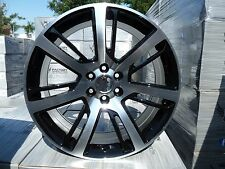 "4) 24"" 2015 Cadillac Escalade Black Machined Chevy GMC Wheels Rims set 22 22"" 24"