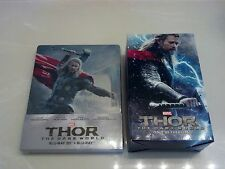 Marvel Thor 2 The Dark World 3D STEELBOOK w/ Mjolnir Hammer Pen Bluray Singapore