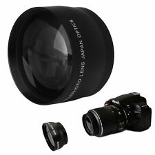 52mm 2x Coated Telephoto Lens for Nikon AF-S DX Nikkor 18-55mm AF-S 55-200mm Cam