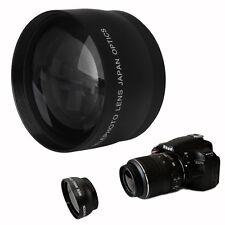52mm 2x Coated Telephoto Lens for Nikon AF-S DX Nikkor 18-55mm AF-S 55-200mm Cam