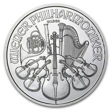 1oz AUSTRIACO Philharmonic MONETA D'ARGENTO 2017, 999 belle monete d'argento. NUOVO