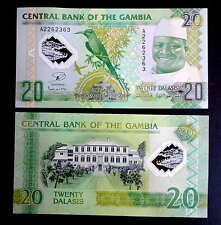 GAMBIA. Billete Polimero 20 dalasis (2015) S/C /  UNC polymer banknote