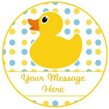 24 icing cake decorations personalised Rubber duck baby shower 1st 2nd birthday