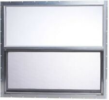 31.75 x 28.625 in. Mobile Home Single Hung Aluminum Window Inscect Screen Silver