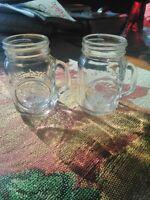 Small Mason Jars Pack Of 2 Cute Vintage Jar Glasses Glass Halloween Farm Decor