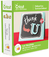 Cricut Cartridge CHALKBOARD FONTS  New & Sealed