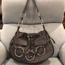 YSL Yves Saint Laurent Vintage Leather Ring Hobo Satchel Bag EUC