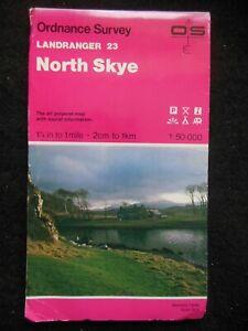 Ordnance Survey Landranger Map - North Skye, Scotland, Highlands - Sheet 23