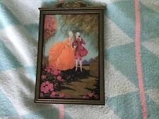 Vintage Small Picture Bird Cage with Nice Wood Frame