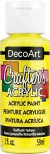 6 Pack-Crafter's Acrylic All-Purpose Paint 2oz-Daffodil Yellow -Dca-53