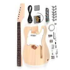 Tele Style Unfinished DIY Electric Guitar Kit Basswood Body Maple Neck X0L6