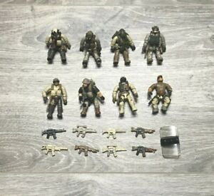 MEGA BLOKS - CALL OF DUTY Lot Of 8 Figures Weapons Guns Accessories - Used RARE