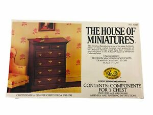 The House of Miniatures Dollhouse Furniture Chippendale 6-Drawer Chest 40010 New