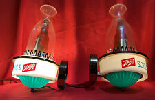 2 Rare Vintage 1959 Schlitz 7 Ounce Beer Bottle Bar Wall Light Sconce Sign