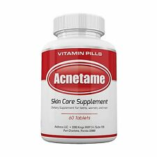 Acnetame- Vitamin Supplements for Acne Treatment 60 Natural Pills Free Shipping