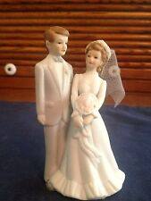 Lefton China The Christoper Collection #04032 Wedding Cake Topper 1984