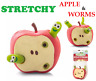 STRETCHY APPLE & WORMS Fiddle Toy Gift Anti Stress Relief Help Christmas Gift